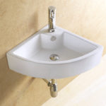 Маленькая угловая раковина для туалета - материалы, виды дизайна