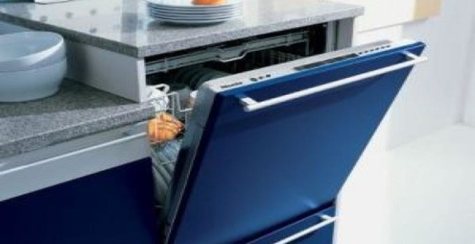Не встраиваемая посудомойка в шкафу