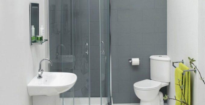 Дизайн ванной комнаты с душевой кабиной и туалетом