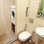 Маленькая ванная комната с душевой кабиной и стиральной машиной - варианты расположения