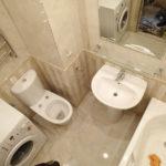 Дизайн ванной комнаты маленького размера со стиральной машиной - варианты размещения, стили