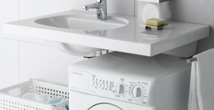 Высота стиральной машины под раковину